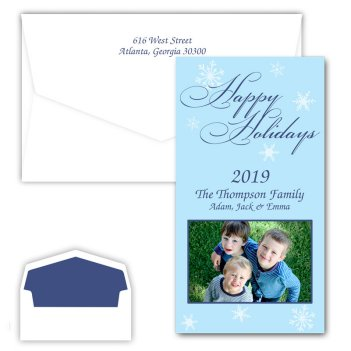 Snowflake Happy Holidays Photo Card