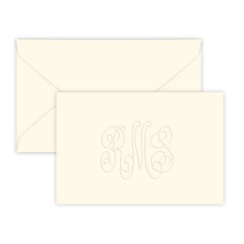 Classic Monogram Horizontal Enclosure - Embossed