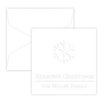 Holiday Portrait Enclosure - Embossed