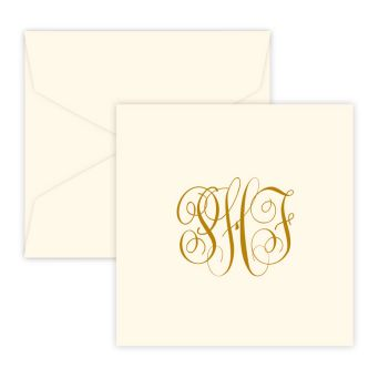 Henley Monogram Portrait Enclosure - Raised Ink