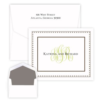 Couples Monogram Note - Matte Ink