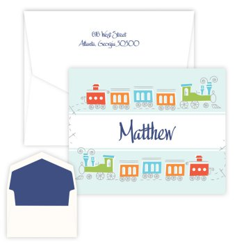 Choo Choo Folding Note - Digital Print