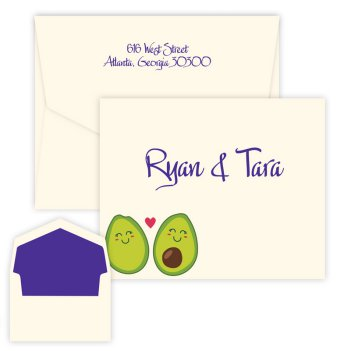 Avocado Couple Folding Note - Digital Print
