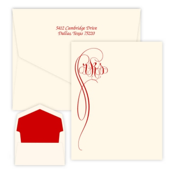 Fiona Monogram Oversized Note - Raised Ink