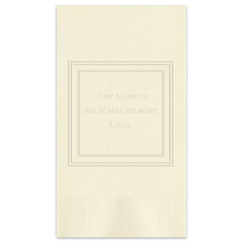 Silver Leaf Framed Guest Towel - Embossed