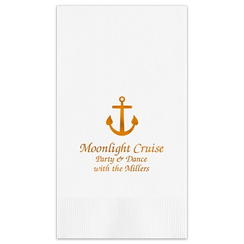 Oceanic Guest Towel - Foil-Pressed