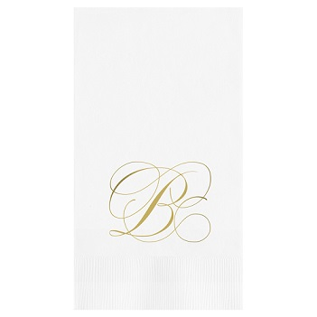 Flourish Guest Towel - Foil-Pressed