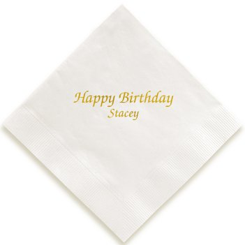 Expression Napkin - Foil-Pressed