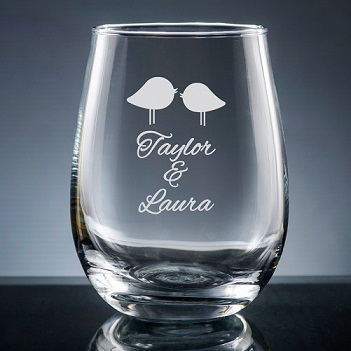 Nuptial Stemless Wine Glass