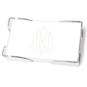 Henley Watercolor Monogram List - White with holder