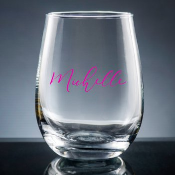 Radiant Printed Stemless Wine Glass