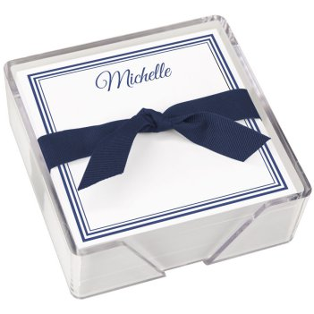 Colonial Memo Square - White with holder