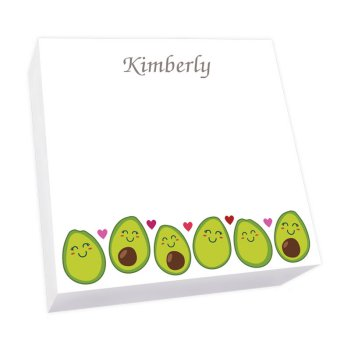 Avocado Family Memo Square - White Refill