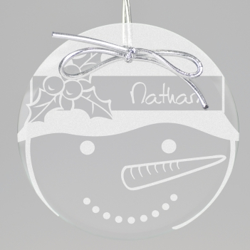 Snowman Keepsake Ornament - Circle