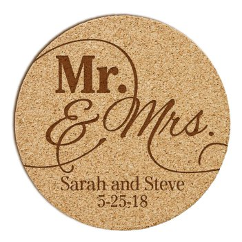 Mr and Mrs Cork Coaster