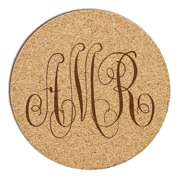 Bronson Monogram Cork Coaster