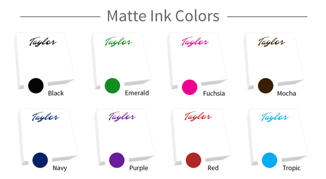 matte-print Ink Colors