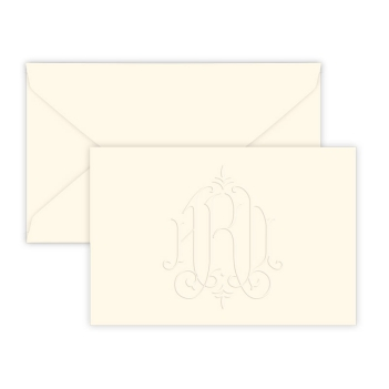 Heartfield Monogram Horizontal Enclosure - Embossed