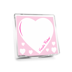 Heart Memo Square with holder