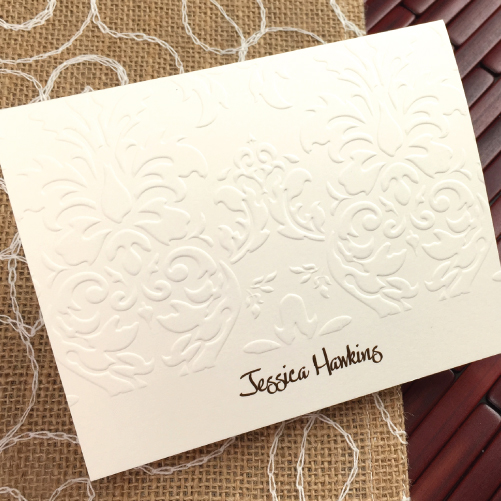 embossed graphics - Personalized Embossed Note Cards