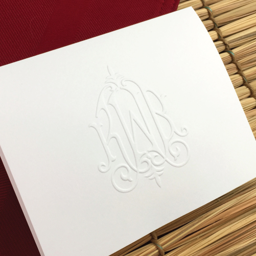 invitations - Personalized Embossed Note Cards